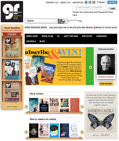 Good Reading Magazine Homepage