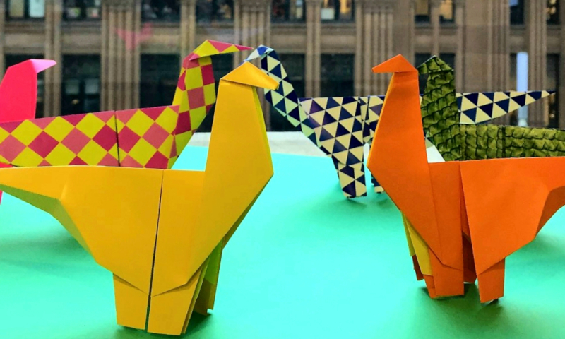 Help Books Kinokuniya craft 2000 origami dinosaurs to beat a world record!