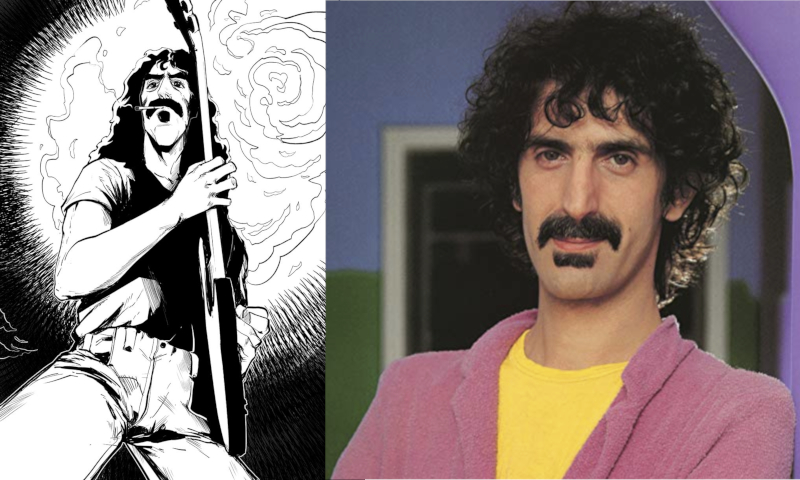 An official Frank Zappa colouring book is coming out in November