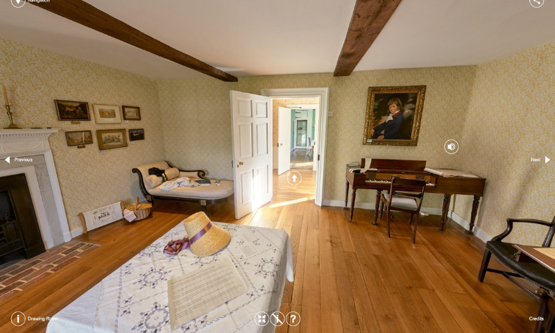 Take a tour of Jane Austen's house without leaving your own!