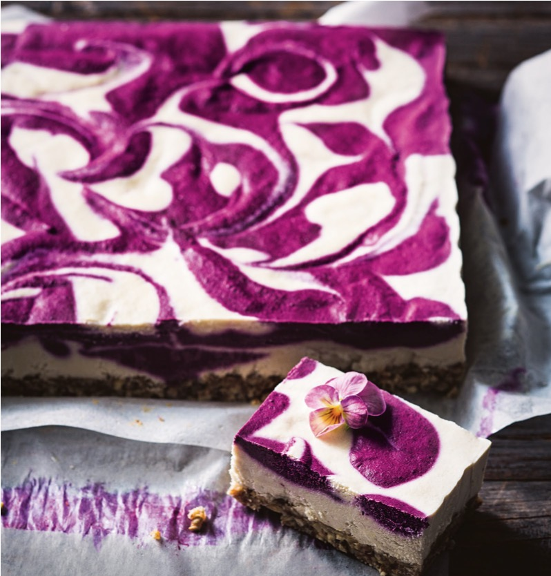 Blueberry And Lemon Swirl Bars - taste.com.au